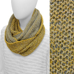 Two Tone Net Knitted Loop/Infinity Scarf with Sequin!