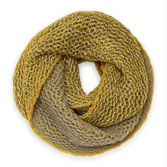 Other Two Tone Net Knitted Loop/Infinity Scarf with Sequin!
