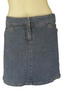Theory Denim Above Knee Jean Skirt Blue