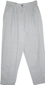Karen Scott Office Checkered Straight Pants Black & White