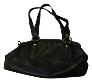 Liz Claiborne Leather Tote in Black