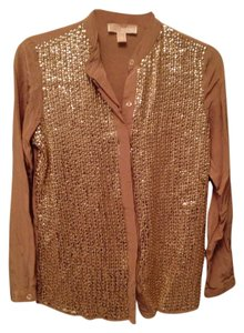 Michael Kors Sequin Top Gold