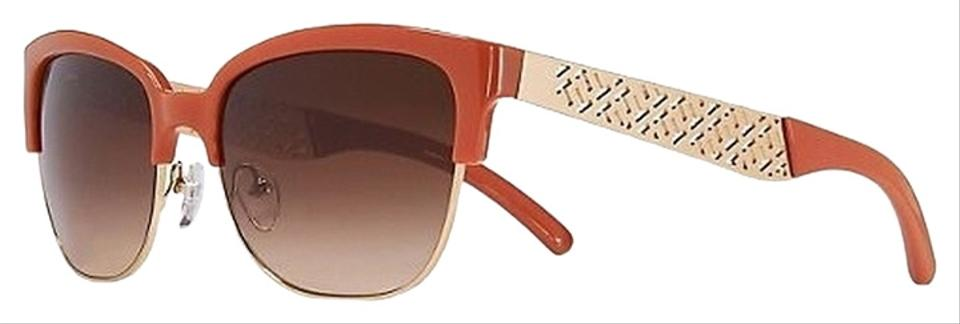 7e5263ba7ca Tory Burch Orange Gold Modern Semi-rim Sunglasses - Tradesy