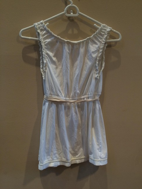 American Eagle Outfitters Peasant Blouse Top White