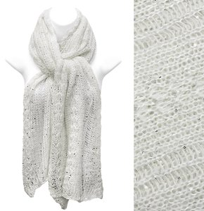 Beautiful Metallic Knit Scarf with Sequin!
