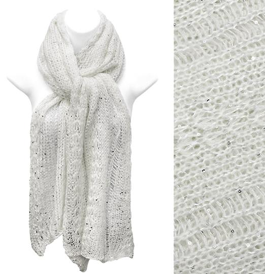 Other Beautiful Metallic Knit Scarf with Sequin!