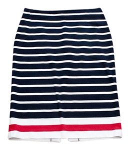 Cato Skirt Navy, White, Red
