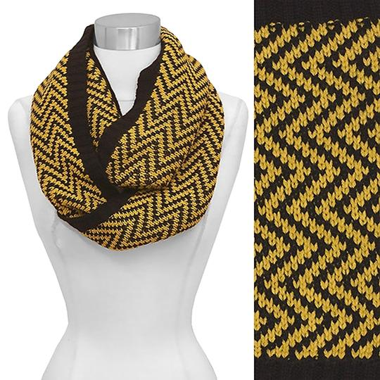 Other Gorgeous Chevron Pattern Knit Loop/Infinity Scarf