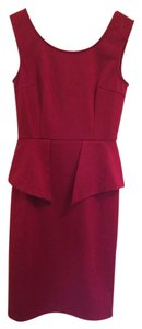 Other Peplum Holiday Knee Legth Details Red Dress