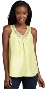Rebecca Taylor Silk Sequin Top Lime