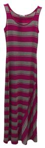 Pink and gray stripes Maxi Dress by Calvin Klein