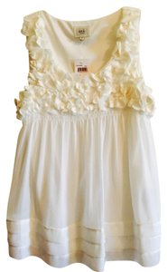 ECI New York Nordstrom Peasant Flower 8 Top White