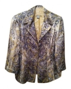 Chico's Evening Jacket / Work Jacket Top Charcoal Gray / Gold