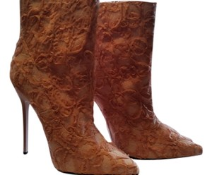 Nasty Gal Pink Lace Boots