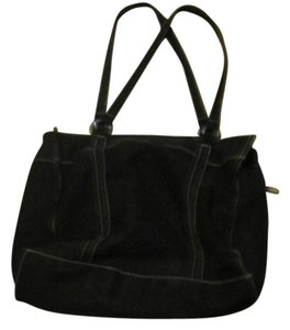 Cherokee Cloth Tote in Black AND White Stiched