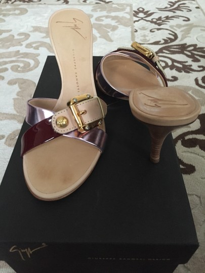 Giuseppe Zanotti Nude with Pink and Cherry Pumps Image 1