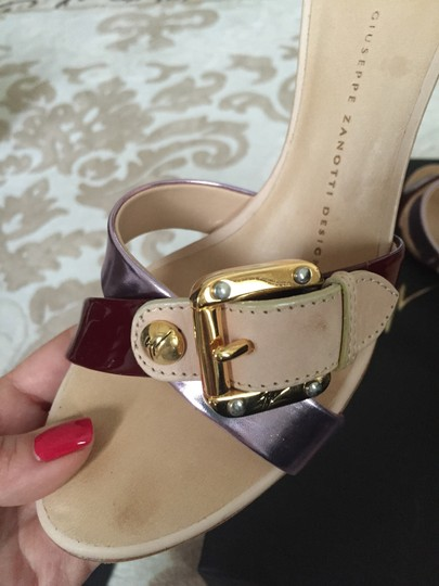 Giuseppe Zanotti Nude with Pink and Cherry Pumps Image 3