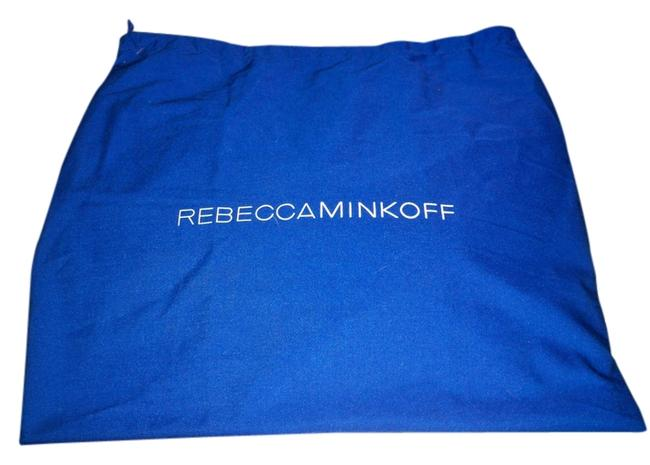 Item - Dust Cover 16x16 (Approx) Fabric And Blue with Logo White Cotton Tote