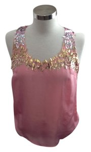 Trina Turk Sequin Top pink, silver, gold