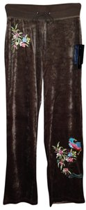 BCBGMAXAZRIA Max Azria Bcbg Peacock Sequin Athletic Pants Brown
