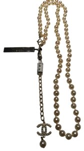 Chanel Pearl belt necklace with cc pearl logo and gold hardware