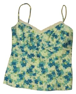 Ann Taylor Spaghetti Straps Top Blue AND wHITE Flowered print