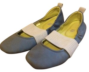 Other Slip-on Design With Elastic Band For A Stretch Fit Sleek Chic Footbed With Cushioned Insole For Enhanced Support blue & gray Flats