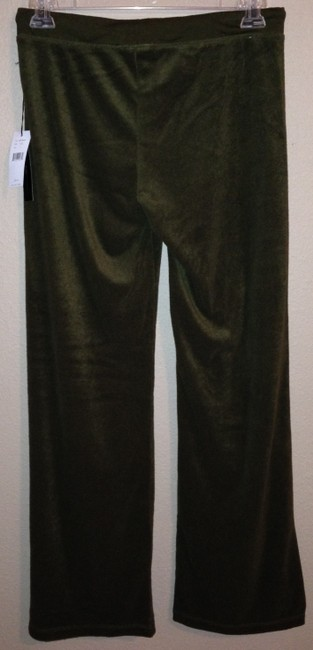 BCBGMAXAZRIA Max Azria Lounge Brown Velour Yoga Athletic Pants Green