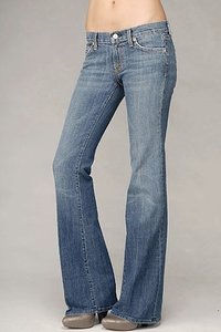 Seven Jeans Seven For All Mankind Stretch Stretch New York Wash Like New U076055u-055u Flare Leg Jeans-Medium Wash