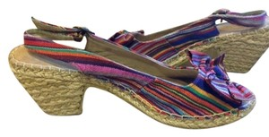 Croft & Barrow Adjustable Twine Wrapped Heel multi Wedges