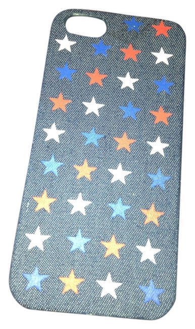 Item - Jean Material with White/Red/Blue Stars Iphone 5/5s Case Tech Accessory