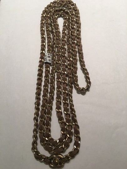 Chanel Leather Chain Belt Necklace Image 1
