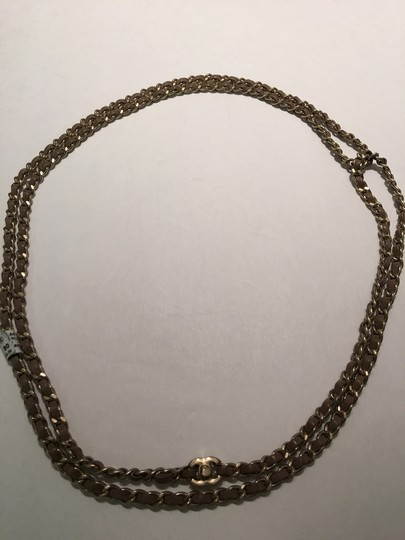 Chanel Leather Chain Belt Necklace Image 2