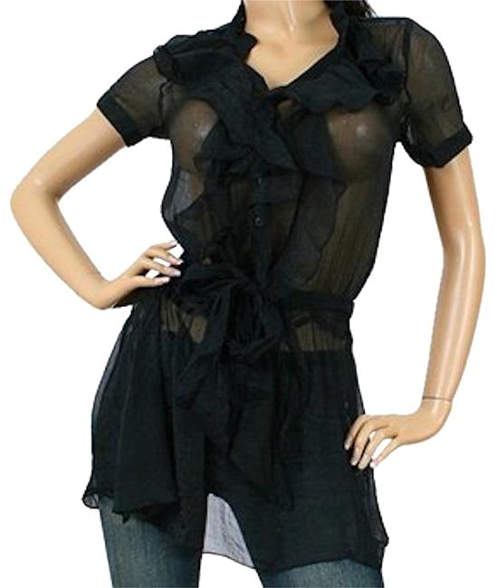Preload https://img-static.tradesy.com/item/13450060/black-vertical-ruffle-sheer-tunic-cover-upsarong-size-6-s-0-1-650-650.jpg