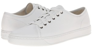 Vince Leather Sneakers Lace Up Unisex Flats White Athletic