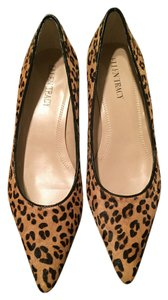 Ellen Tracy Calf Hair Leopard Pumps