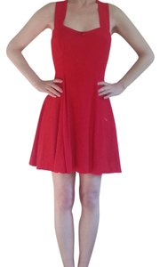 Together short dress Red Strappy Sleeveless on Tradesy