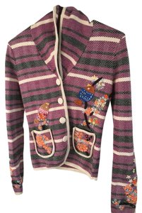 American Retro Paris Applique Embroidered Cardigan