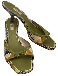 Prada Green print Pumps