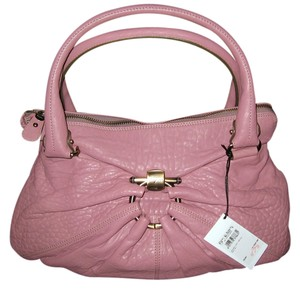 Salvatore Ferragamo Kimberly Leather Nappa Satchel in Mauve