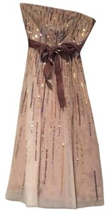 BCBGMAXAZRIA Sequins Tulle Tea Length Formal Night Out Dress