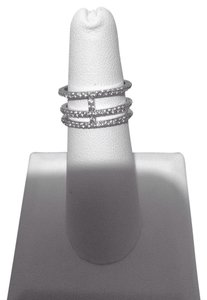 Micro Pave Crystal Double Band T Ring