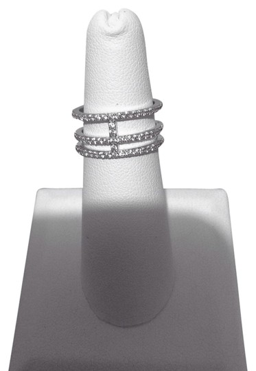 Other Micro Pave Crystal Double Band T Ring