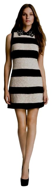 Item - Black and Ivory Eve Mid-length Work/Office Dress Size 12 (L)