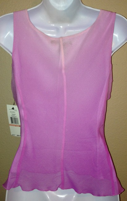Kenneth Cole New York Sleeveless Silk Night Out Date Night Xs Extra Small Xsmall Pink Purple Tank Top Petal