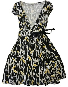 Diane von Furstenberg short dress Black / White / Yellow / Lavender Dvf Wrap Spring on Tradesy