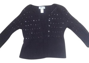 Nine West Sweater Cardigan Top Black