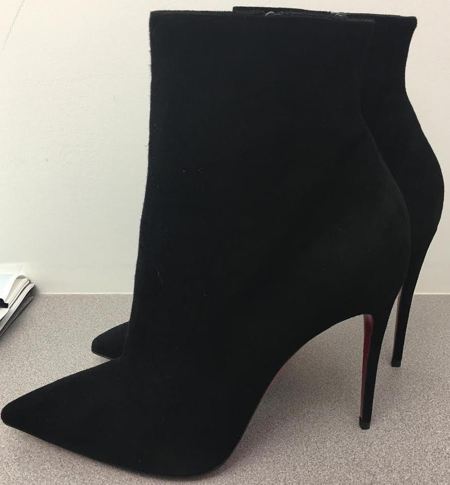 5cecf496253 christian louboutin so kate booty 100mm suede ankle boots black