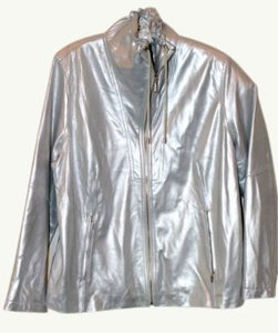 Bradley Bayou Metallic Silver Leather Jacket