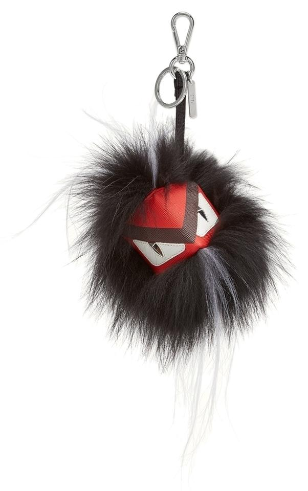 952ac21ae22d Fendi Black Red Igor Fur Bag Bug Cube Monster Key Chain Bag Charm ...